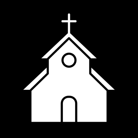 church vector Icon. Flat simple solid icon. Easter concept. Eps 10 Illustration