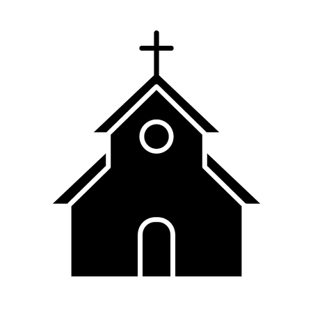 Church vector icon. Flat simple solid icon. Easter concept.