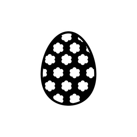 Easter egg vector icon. Two Easter eggs. Flat simple line icon on white background. Solid design.
