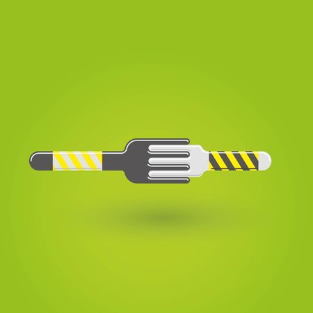 Two forks icon vector illustration