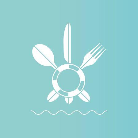 Utensils icon vector illustration