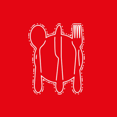 Fork, knife, tablespoon vector icon.
