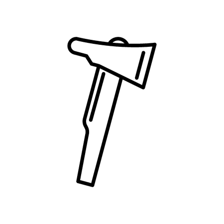 Fire axe line icon. vector illustration isolated on white. outline style design, designed for web and app. Eps 10