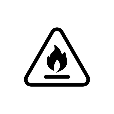 Flammable symbol line icon. vector illustration isolated on white. outline style design, designed for web and app. Eps 10 向量圖像