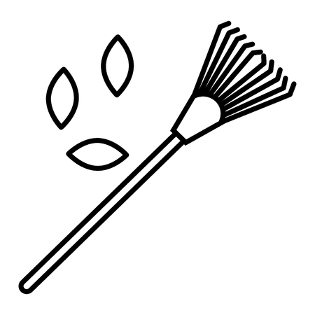 Lawn rake line icon. vector illustration isolated on white. outline style design, designed for web and app. Eps 10