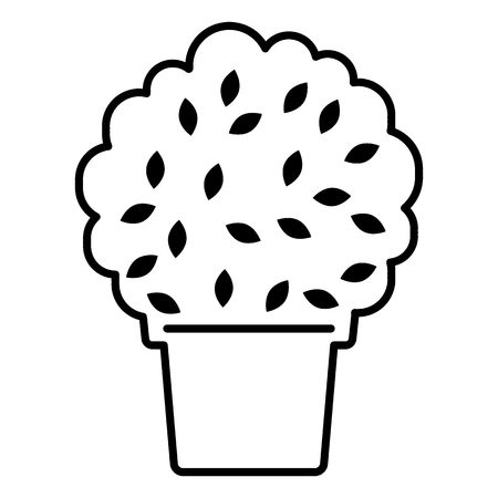 Bush in a pot line icon. vector illustration isolated on white. outline style design, designed for web and app. Eps 10