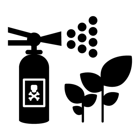 Insect repellent, sprout sprayer solid icon. vector illustration isolated on white. glyph style design, designed for web and app. Eps 10 Ilustração
