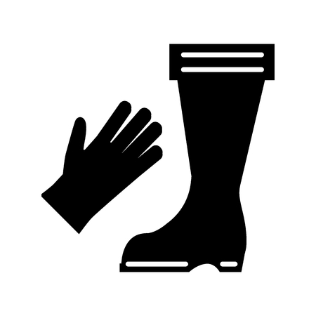 Boots and gloves solid icon. vector illustration isolated on white. glyph style design, designed for web and app. Eps 10