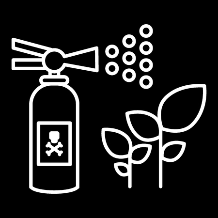 Insect repellent, sprout sprayer line icon. vector illustration isolated on black. outline style design, designed for web and app. Eps 10