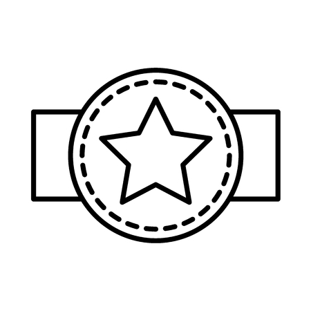Award belt line icon. vector illustration isolated on white. outline style design, designed for web. Eps 10 向量圖像