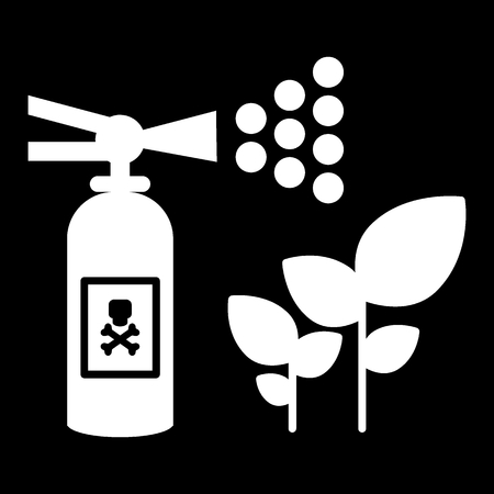 Fertilizer, insect repellent, sprout sprayer solid icon. vector illustration isolated on black. glyph style design, designed for web and app