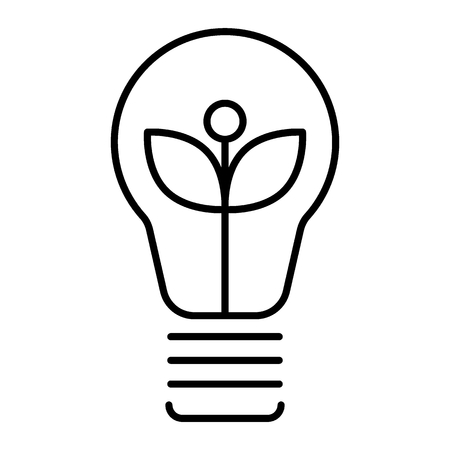 Ecological light bulb thin line icon. Eco lamp vector illustration isolated on white. Eco energy outline style design, designed for web and app. Eps 10