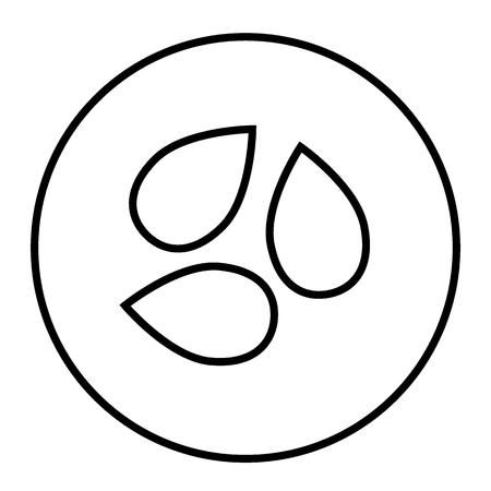 semillas icono de la forma. ilustración vectorial grano aislado en el estilo de dibujo . estilo de la vendimia del estilo del vector del estilo de vida para la industria web y súper súper cd Ilustración de vector