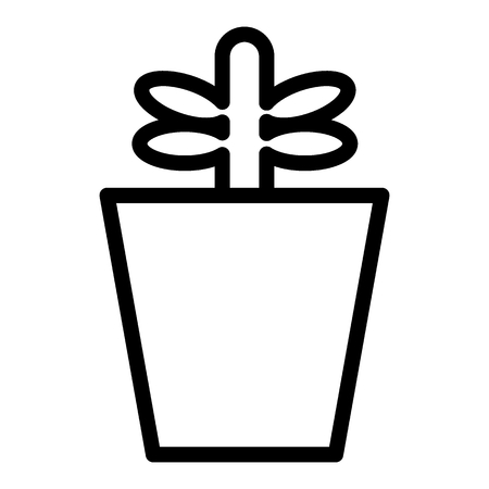 Plant in pot line icon. Sprout vector illustration isolated on white. Growing plant outline style design, designed for web and app. Eps 10.
