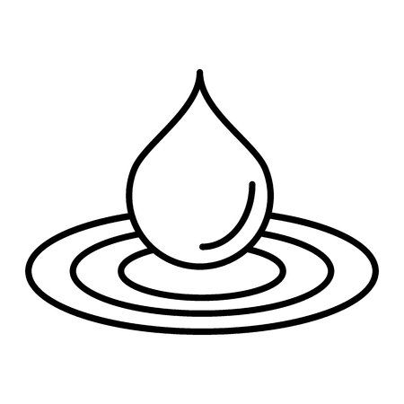 Water drop thin line icon. Droplet vector illustration isolated on white. Drop in water outline style design, designed for web and app. Eps 10.