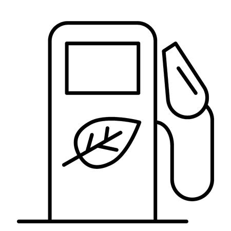 Icône de fine ligne de biocarburant. Illustration vectorielle de station-service bio isolée sur blanc. Conception de style de contour de biocarburant, conçue pour le Web et l'application. Eps 10 Vecteurs