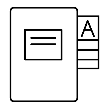 Questionnaire folder thin line icon. Form doll vector illustration isolated on white. Documentation outline style design, designed for web and app. Eps 10
