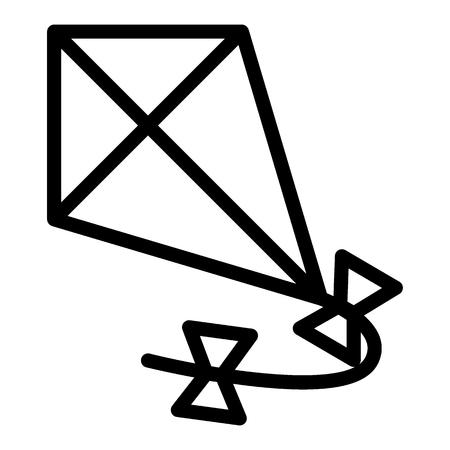 Kite line icon. Flying kite vector illustration isolated on white. Kite in the sky outline style design, designed for web and app. Eps 10.