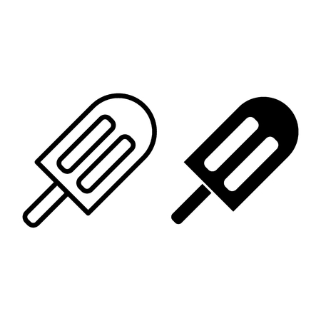 Ice cream line and glyph icon. Dessert vector illustration isolated on white. Ice lolly outline style design, designed for web and app. Eps 10 Illustration