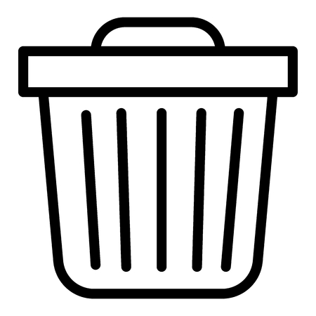 Trash bin line icon. Trash can vector illustration isolated on white. Garbage outline style design, designed for web and app. Eps 10.