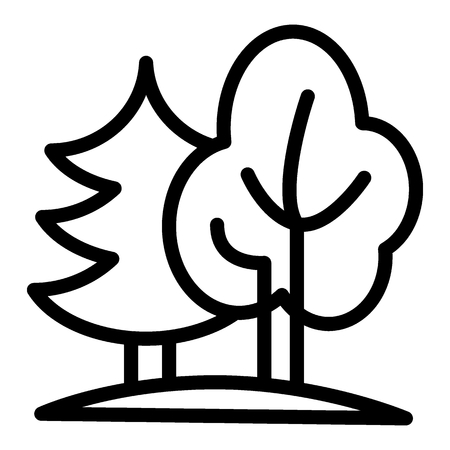 Forest line icon. Nature vector illustration isolated on white. Trees outline style design, designed for web and app. Eps 10 Vektorové ilustrace