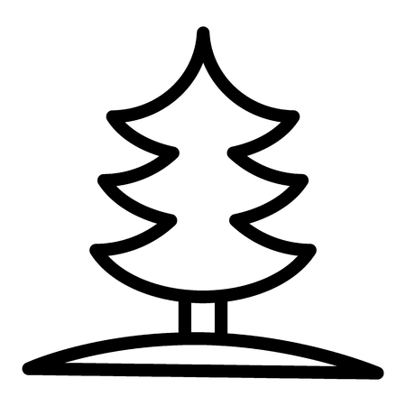Fir tree line icon. Spruce vector illustration isolated on white. Pine outline style design, designed for web and app. Eps 10. Vettoriali