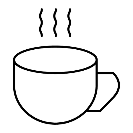 Camping cup thin line icon. Camp mug vector illustration isolated on white. Hot drink outline style design, designed for web and app. Eps 10 Illustration
