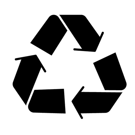 Recycle sign solid icon. Eco recycling sign vector illustration isolated on white. Recycle symbol glyph style design, designed for web and app. Eps 10.
