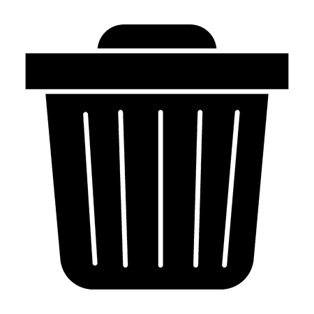 Trash bin solid icon. Trash can vector illustration isolated on white. Garbage glyph style design, designed for web and app. Eps 10.