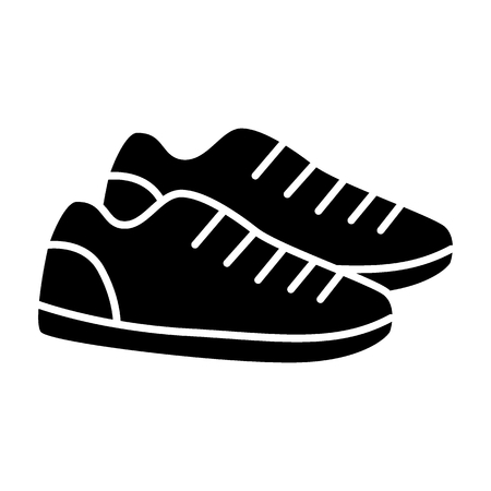 Sneakers solid icon. Sport shoes vector illustration isolated on white. Footwear glyph style design, designed for web and app. Eps 10