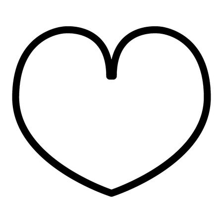 Heart line icon. Love vector illustration isolated on white. Valentine outline style design, designed for web and app. Eps 10