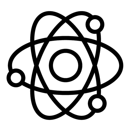 Atom line icon. Nuclear power vector illustration isolated on white. Molecule outline style design, designed for web and app. Eps 10