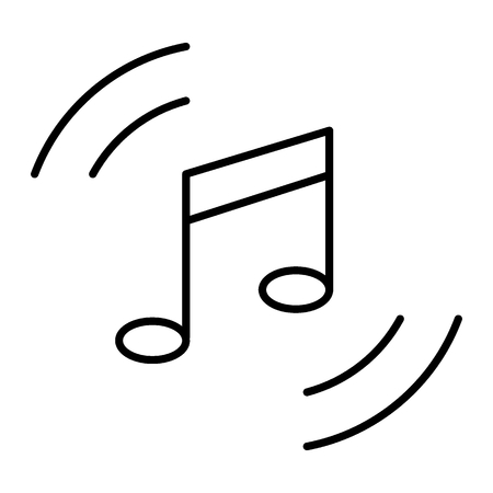 Music note thin line icon. Melody vector illustration isolated on white. Playing music outline style design, designed for web and app. Eps 10