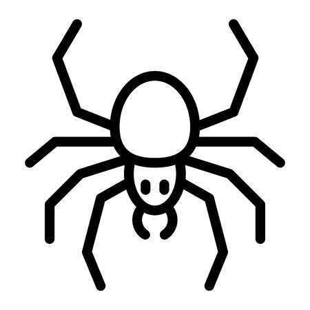 Spider line icon. Arachnid vector illustration isolated on white. Insect outline style design, designed for web and app Çizim