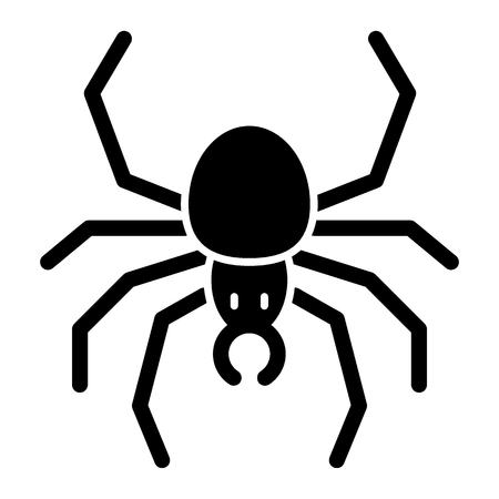 Spider solid icon. Arachnid vector illustration isolated on white. Insect glyph style design, designed for web and app