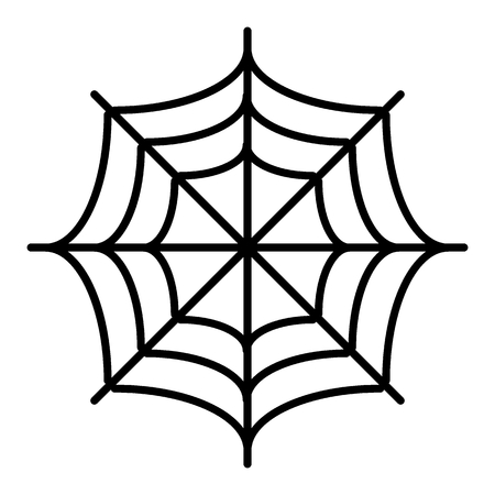Spider net thin line icon. Spider web vector illustration isolated on white. Cobweb outline style design, designed for web and app. Eps 10