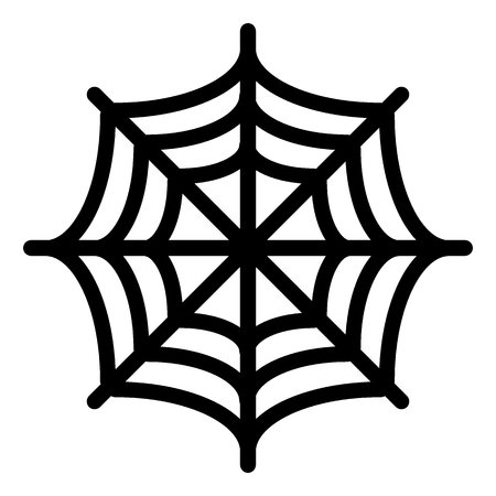 Spider net line icon. Spider web vector illustration isolated on white. Cobweb outline style design, designed for web and app. Eps 10 Ilustração