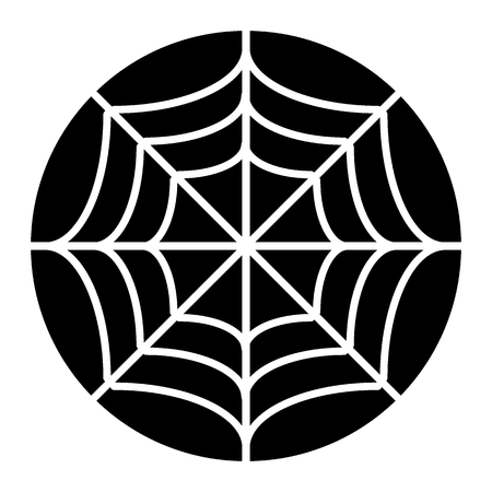 Spider net solid icon. Spider web vector illustration isolated on white. Cobweb glyph style design, designed for web and app. Eps 10