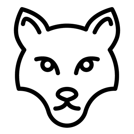 Fox mask line icon. Muzzle fox vector illustration isolated on white. Animal face outline style design, designed for web and app. Illustration