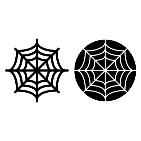Spider net line and glyph icon. Spider web vector illustration isolated on white. Cobweb outline style design, designed for web and app. Eps 10 Ilustração