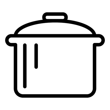 Pot line icon. Saucepan vector illustration isolated on white. Casserole outline style design, designed for web and app.