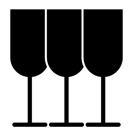 Glasses solid icon. Stemware vector illustration isolated on white. Glassware glyph style design, designed for web and app. Eps 10