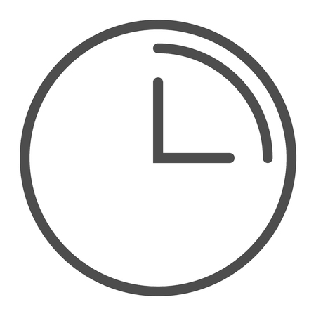 3 hours line icon. Clock with 3 hours vector illustration isolated on white. Watch outline style design, designed for web and app. Eps 10