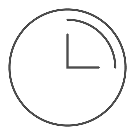 3 hours thin line icon. Clock with 3 hours vector illustration isolated on white. Watch outline style design, designed for web and app. Eps 10