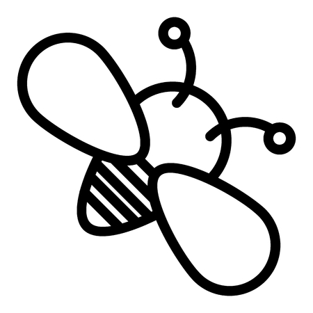 Bee line icon. Insect vector illustration isolated on white. Honey bee outline style design, designed for web and app.