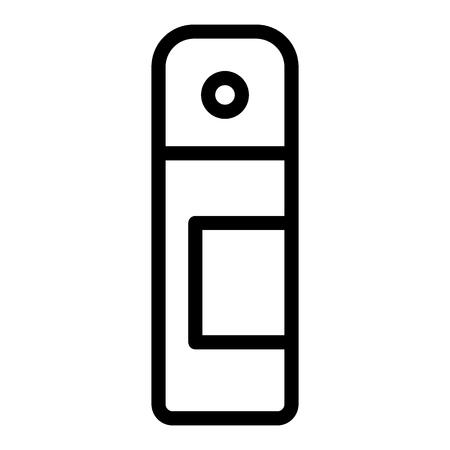 Deodorant bottle line icon. Aerosol illustration isolated on white. Spray antiperspirant outline style design, designed for web and app.