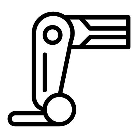 Prosthesis leg line icon. Mechanical leg vector illustration isolated on white. Robot leg outline style design, designed for web and app.