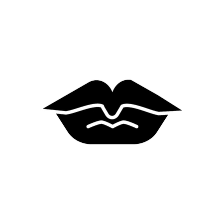 Lips solid icon. Kiss vector illustration isolated on white. Love glyph style design, designed for web and app.