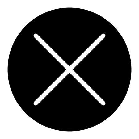 X button solid icon. Cross in circle illustration isolated on white. X mark glyph style design, designed for web and app. Eps 10