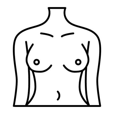 Perfect woman body thin line icon. Female figure vector illustration isolated on white. Slim girl outline style design, designed for web and app.